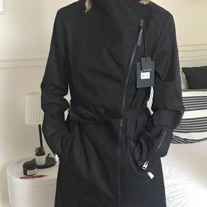 Brand new Mackage black Estela trench coat